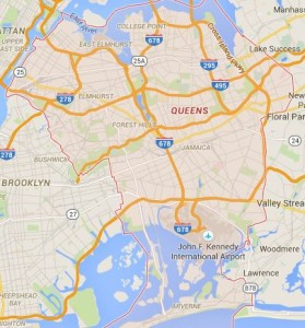 Map of Queens County New York